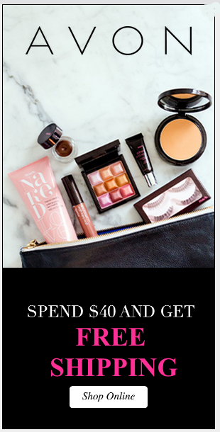 free shipping on avon makeup