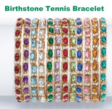 Avon Jewelry Birthstone Tennis Bracelet