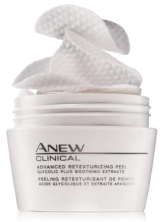 anew clinical retexturizing peel by avon