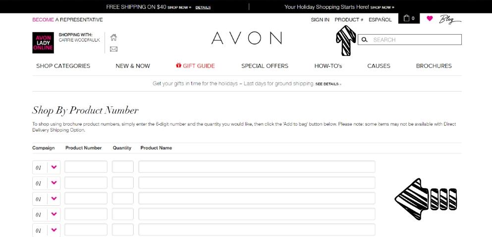 avon order form online image