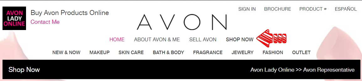avon shop now button