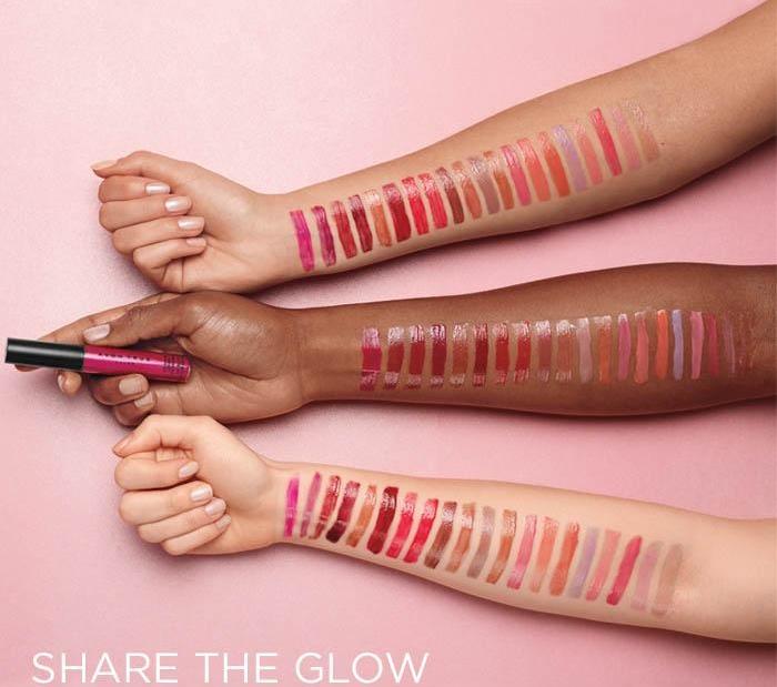 Avon lip glow gloss swatches